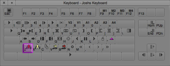 Lift Avid Editing Keyboard Shortcut (Z)