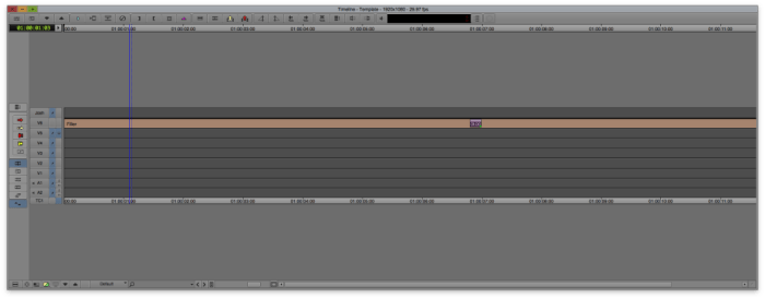 Timeline Keyboard Shortcut in Avid