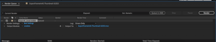 Render Queue Panel in After Effects to export a QuickTime with alpha channel