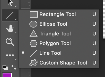 Shape Tools in Photoshop