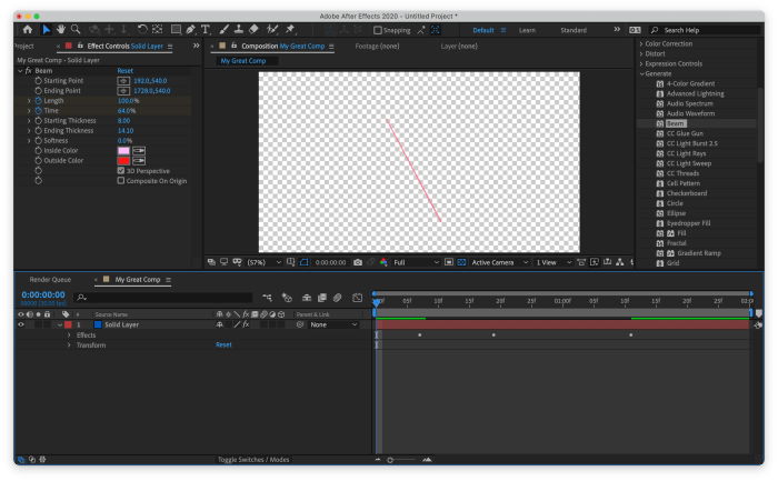 After Effects showing layer with keyframes not being able to be edited