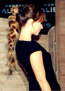 alternative ponytail