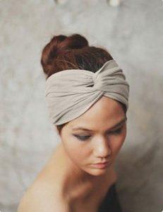 topknot and headband