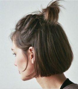topknot in short hair