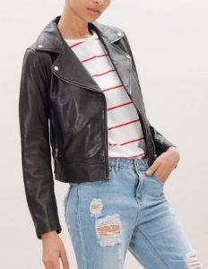 biker jacket stradivarius