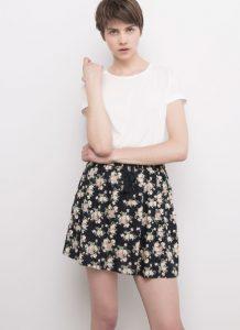 floral mini fousta kalokairi 2016
