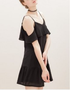 open shoulders dress