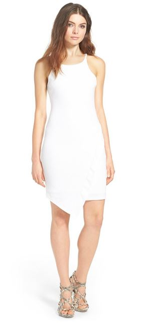 asymmetrical body-con dress