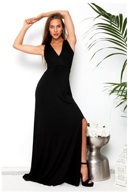 cut out maxi backless dress
