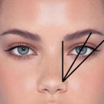 determine edges of brow