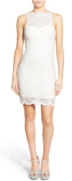 lace body-con dress