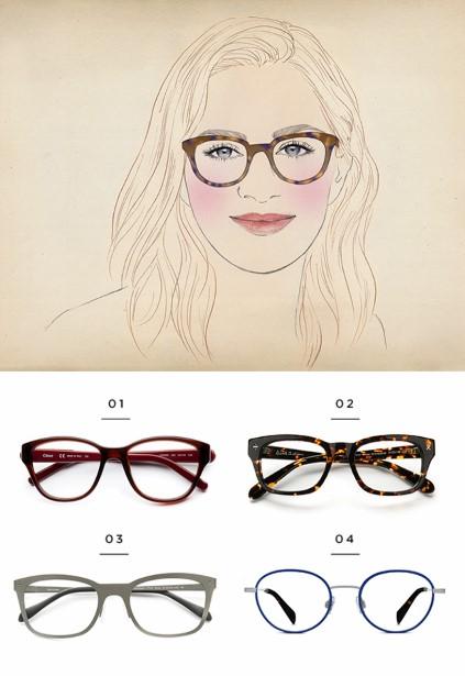 Βρες τα κατάλληλα γυαλιά οράσεως ανάλογα το σχήμα προσώπου σου ... fba757f540d