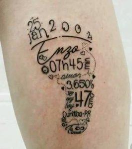 imerominia gennisis, patousaki mwrou tattoo