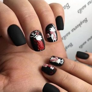 mavro mat xmas manicure me tarandous