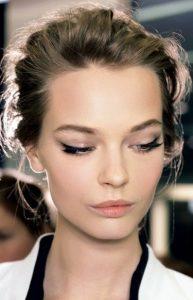 nude makeup, entono cateye