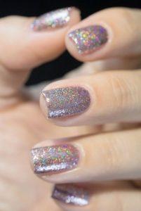 iridizon glitter manicure