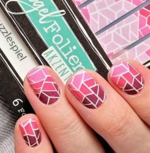 geometriko nail art