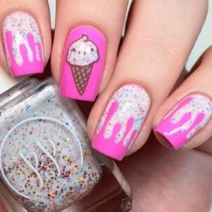 nail pattern ice cream