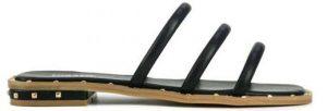 mavro flat sandali me lourakia