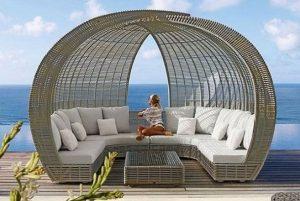 καναπές εξοχικό αυλή