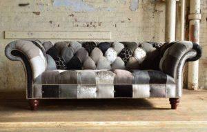μοντέρνος μικρός καναπές μπαλώματα
