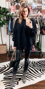 δερμάτινο παντελόνι χειμερινά outfits 2020