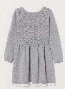 γκρι πλεκτο φορεμα παιδιο