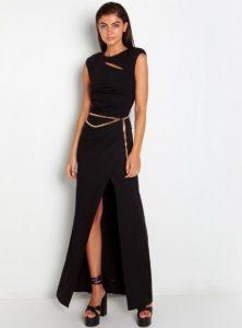 μαύρο μαξι φόρεμα