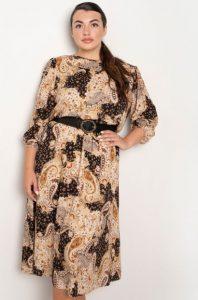 μίντι φόρεμα με μοτίβο