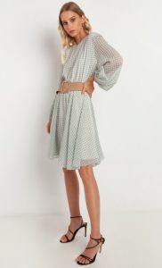 mini καρό φόρεμα