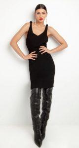 πλεκτό αμάνικο φόρεμα