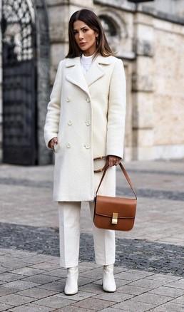 λευκο παλτο γυναικειο με πετο