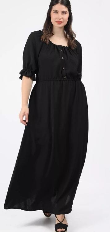 μάξι μαύρο φόρεμα μεγάλο μέγεθος καλοκαίρι 2021