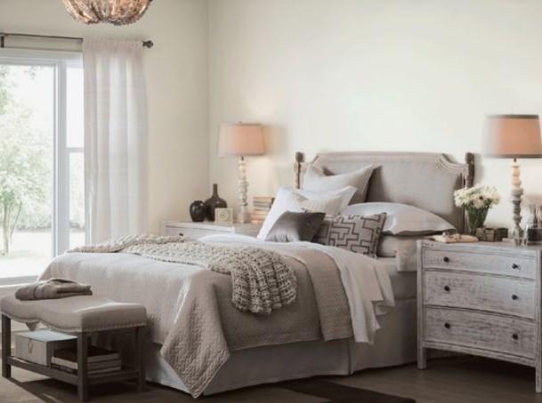 σπασμένο λευκό ξεκούραστα χρώματα υπνοδωμάτιο