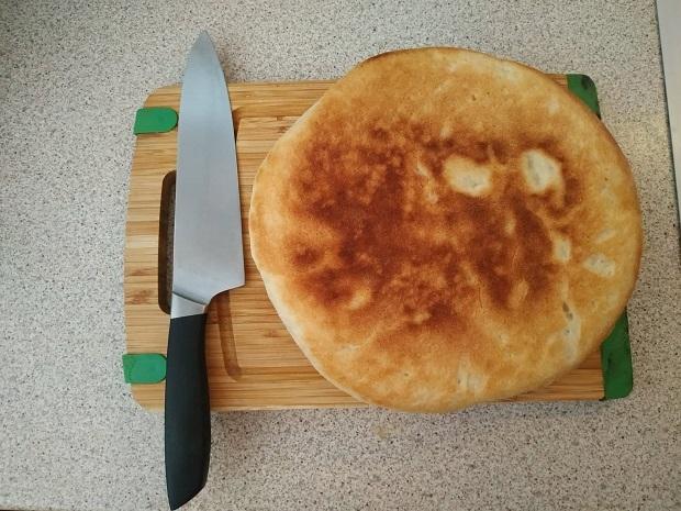 σπιτικό ψωμί στο τηγάνι 8 λεπτά