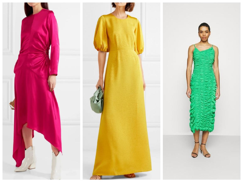 φορέματα σε έντονα χρώματα