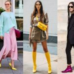 ντυσίματα με χρωματιστά παπούτσια