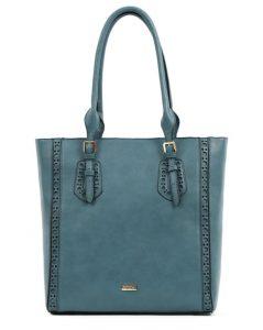 μπλε τσάντα χειρός