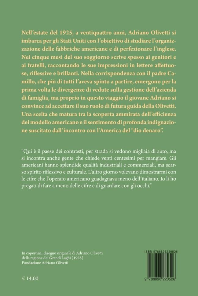 Quarta – Dall'America: lettere ai familiari (1925-26) – Adriano Olivetti