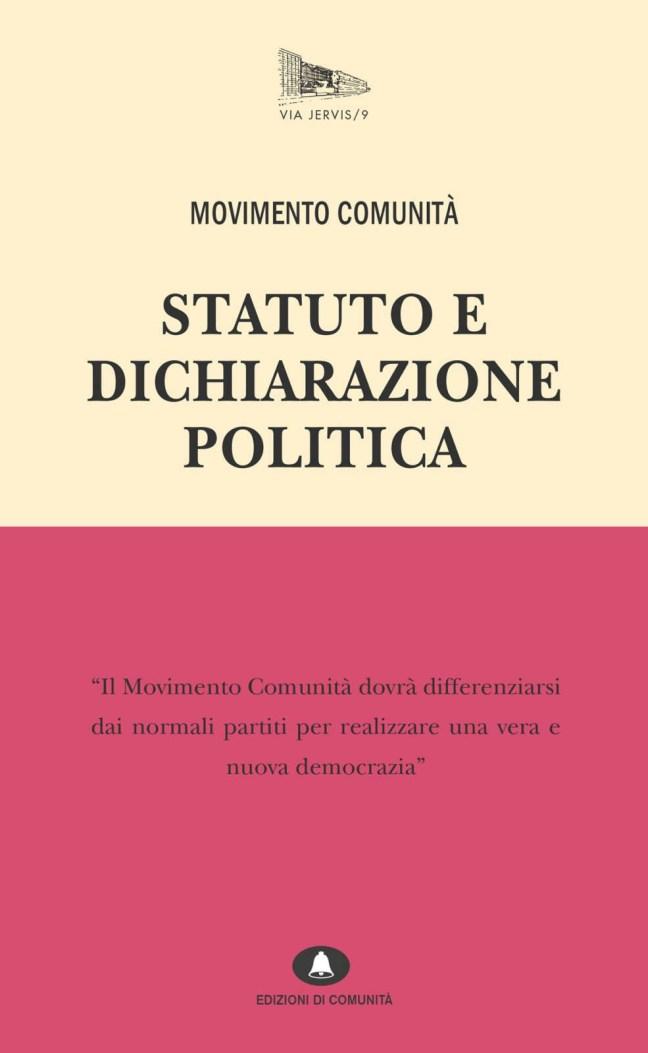 Movimento Comunità. Statuto e Dichiarazione Politica