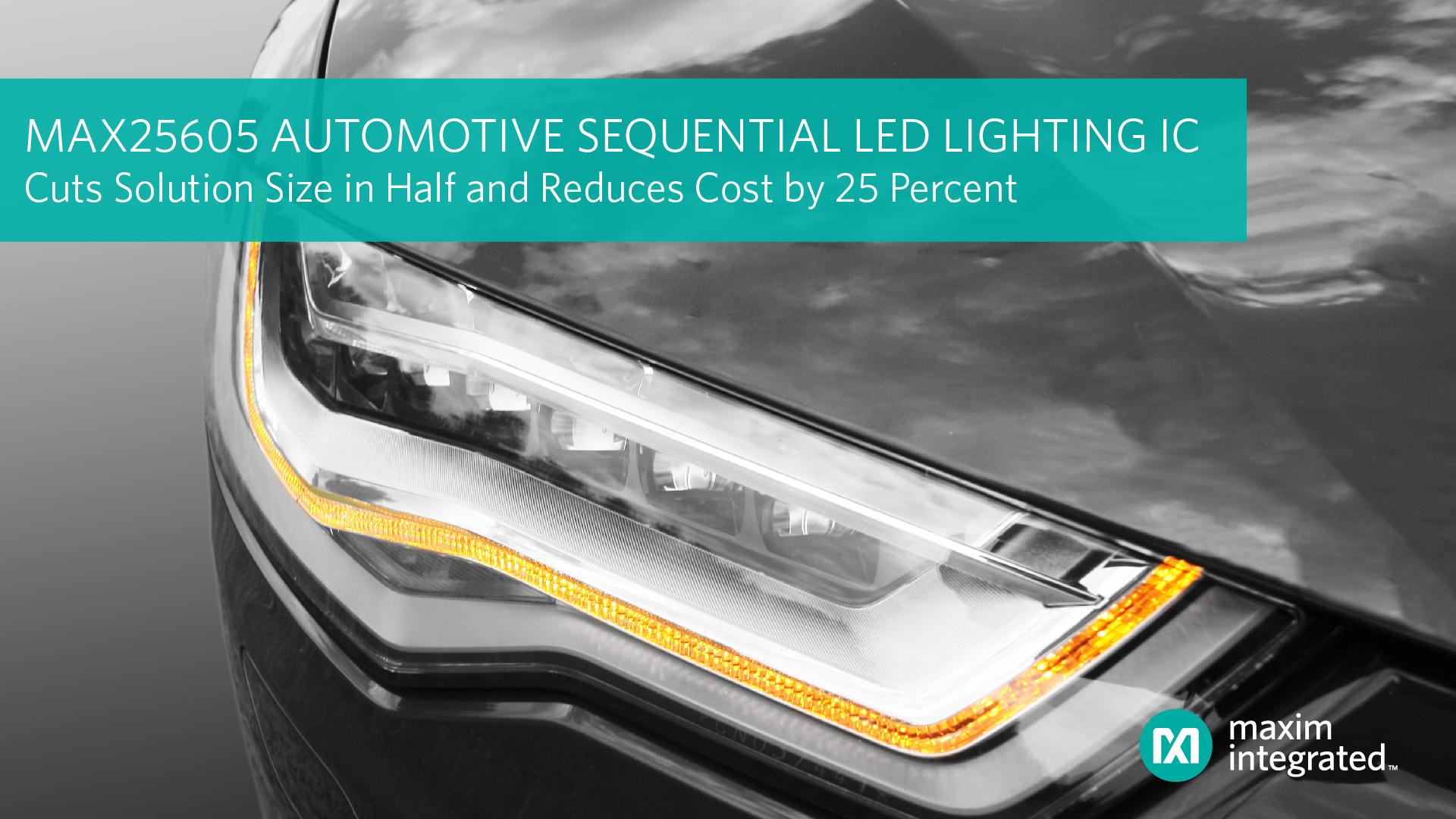 Controller Automotive per l'Illuminazione Sequenziale a LED Riduce le Dimensioni e il Costo
