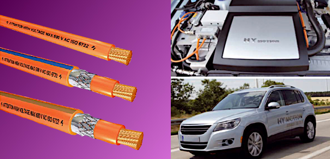 I Cavi di alta tensione usati nelle automobili elettriche