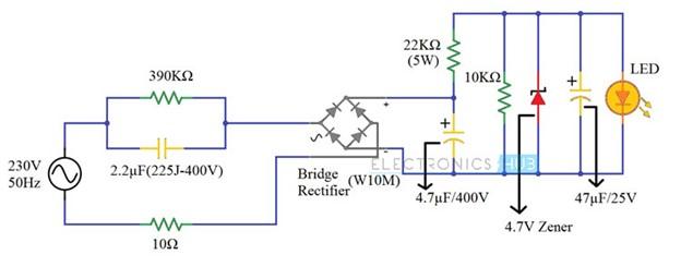 Circuito driver LED 230v