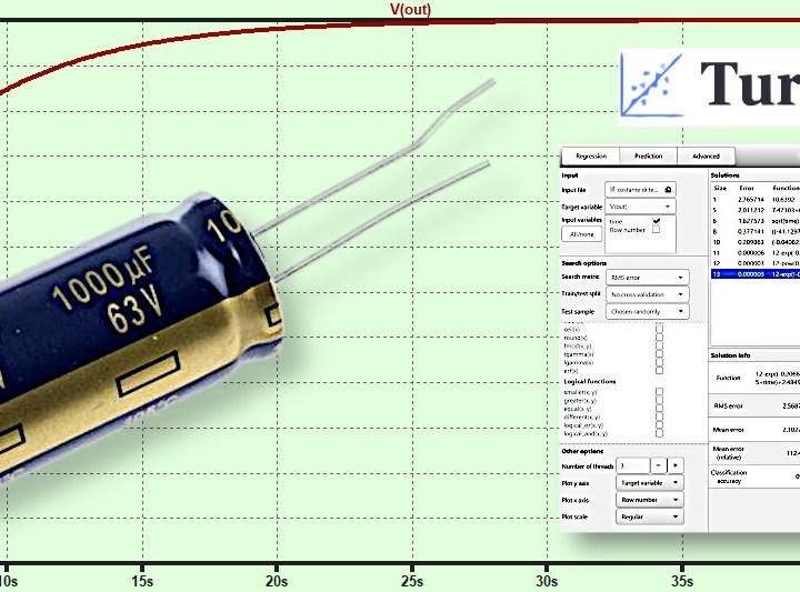 Caratterizzazione di un circuito RC e della costante di tempo con il software TuringBot