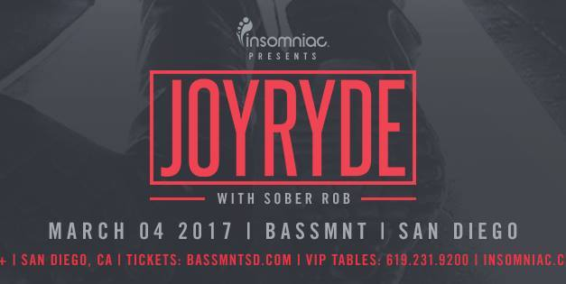 JOYRYDE @ Bassmnt || Event Preview & Giveaway