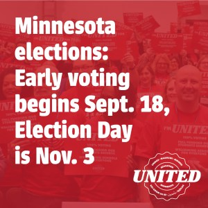 2020 elections: Early voting in begins Sept. 18, Election day is Nov. 3. #EdMNVotes