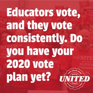 2020 elections: Educators vote what's your plan? #edmnvotes