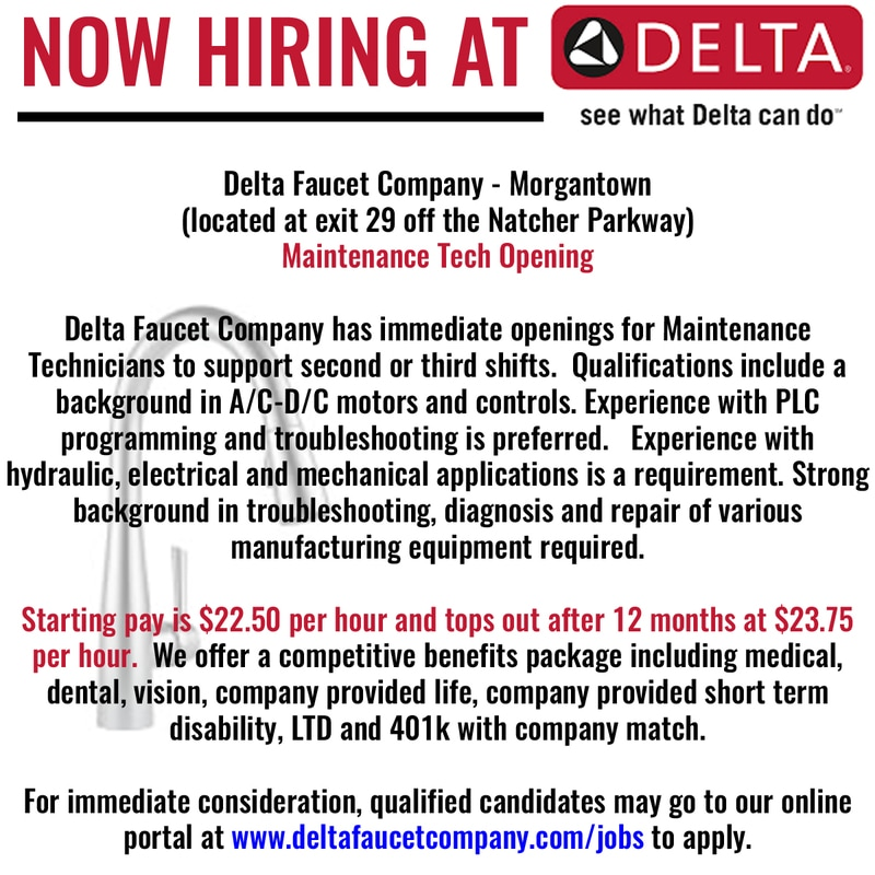 delta faucets now hiring starting pay 22 50 hr the edmonson voice