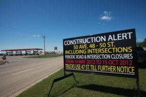 Construction Signs Edmonton