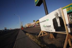Large Edmonton Election Signs